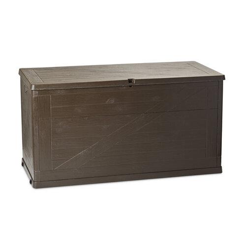 Zahradní box na polstry Wood 420l hnědý Doprava zdarma