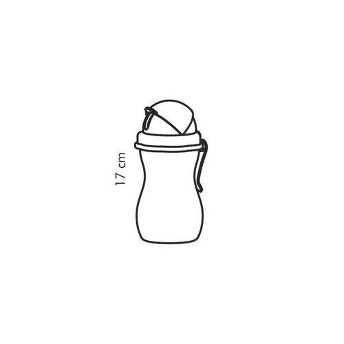 Tescoma Detská fľaša so slamkou BAMBINI ružová, 300 ml