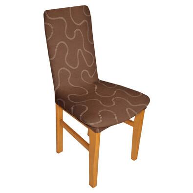 Multielastický potah Lazos na židli hnědá, sada 2 ks
