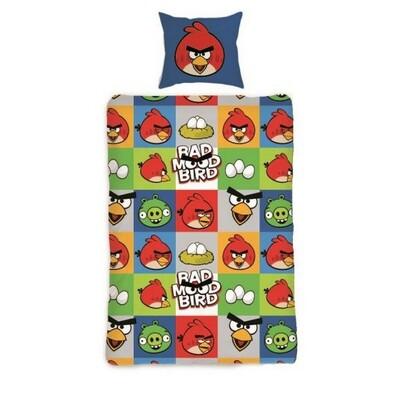 Dětské bavlněné povlečení Angry Birds Bad Mood, 140 x 200 cm, 70 x 90 cm