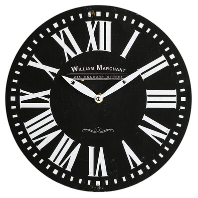 Nástěnné hodiny William Marchant, černá
