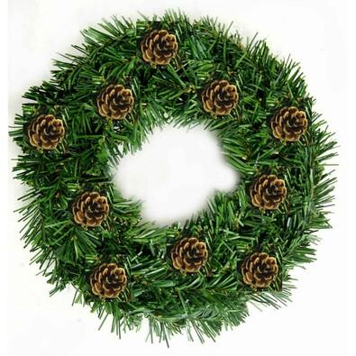 Dekorativní vánoční věnec se šiškami, pr. 30 cm