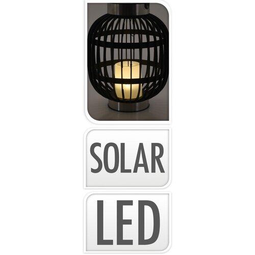 Solárny lampáš Alkmaar čierna, 23 x 23 x 30 cm