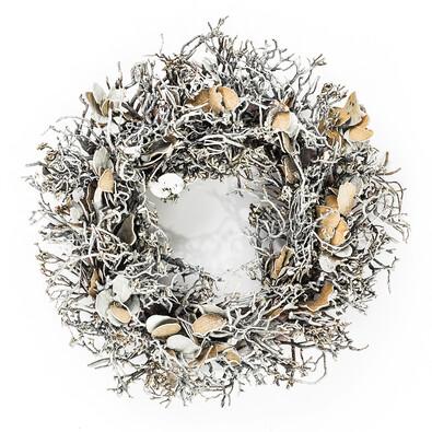 Dekorativní vánoční věnec březový 30 cm