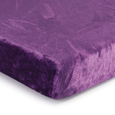 Prostěradlo Mikroplyš fialová, 90 x 200 cm