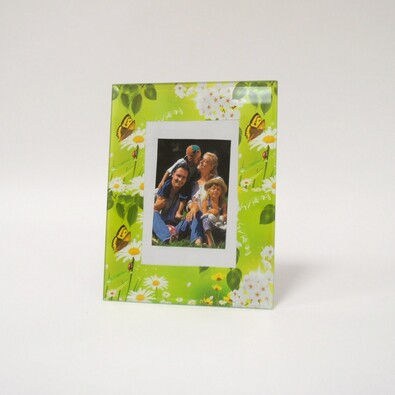 Fotorámeček skleněný zelený