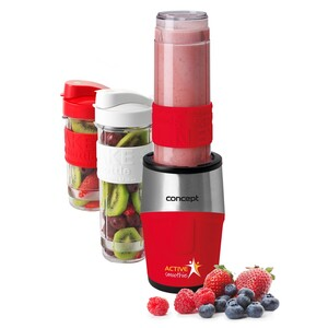 Concept SM3386 smoothie maker  Active smoothie 500 W + láhve 2 x 570 ml + 400 ml, červená