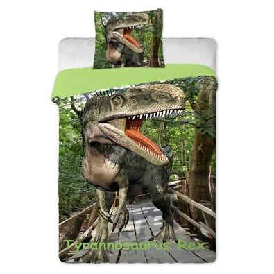 Pościel bawełniana Dinosaurs, 140 x 200 cm, 70 x 90 cm