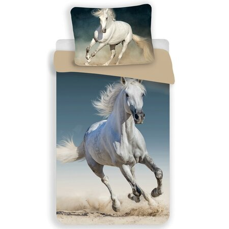 Horse 03 pamut ágynemű, 140 x 200 cm, 70 x 90 cm