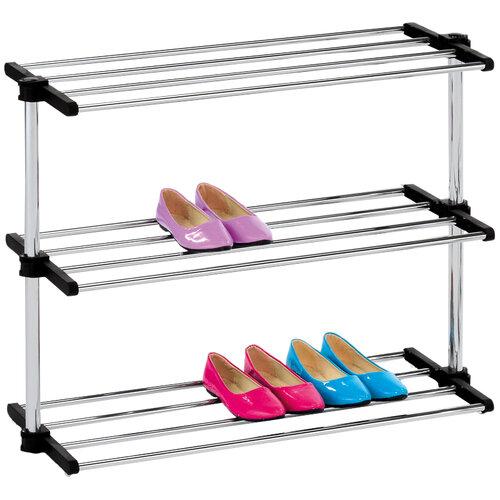 3-szintes cipőtartó, ezüst