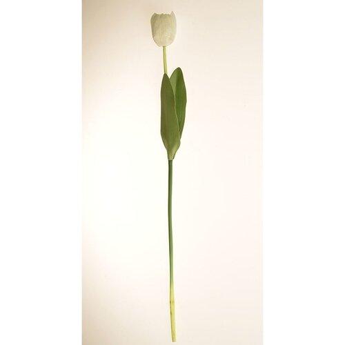 Umělá květina Tulipán bílá, 60 cm