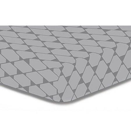 DecoKing Prostěradlo Rhombuses šedá S1, 160 x 200 cm