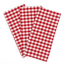 Kocka konyharuha, piros, 50 x 70 cm, 3 db-os szett