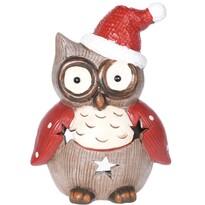 Christmas owl dots teamécses-tartó, 10 x 14 cm