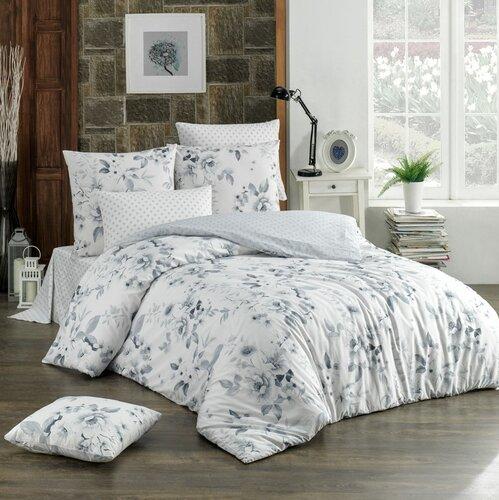 BedTex Bavlnené obliečky Rujan sivá, 220 x 200 cm, 2 ks 70 x 90 cm