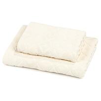 Zestaw Rio ręcznik i ręcznik kąpielowy kremowy, 50 x 100 cm, 70 x 140 cm