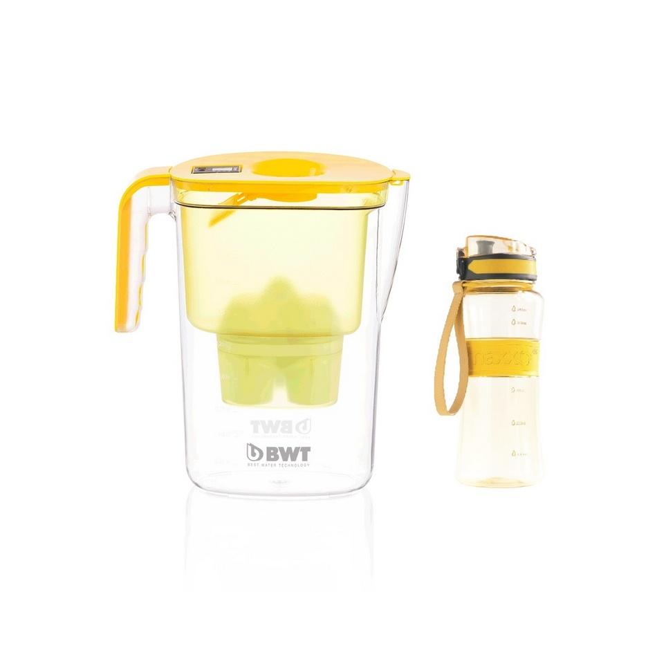 BWT Filtračná kanvica Vida 2,6 l, žltá + darček outdoor športová fľaša