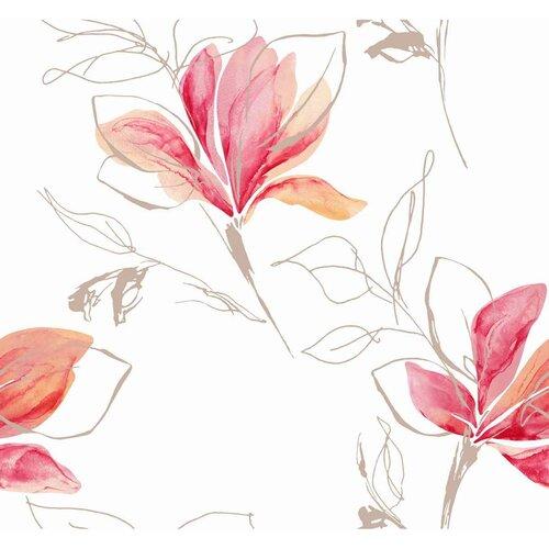 Japonská stěna Blossom červená, 50 x 245 cm