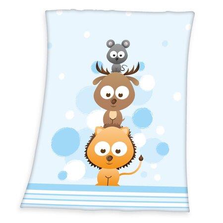 Detská deka Fynn Sweet Animals, 75 x 100 cm