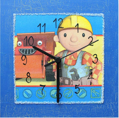 Nástenné hodiny Bořek staviteľ