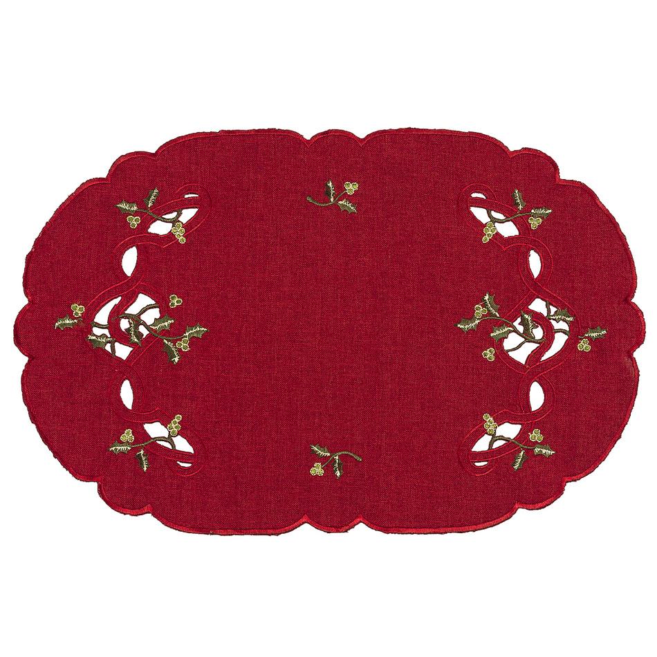 Forbyt Vianočný obrus imelo červená, , 30 x 45 cm