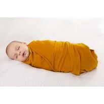 Rożek niemowlęcy żółty, 80 x 120 cm