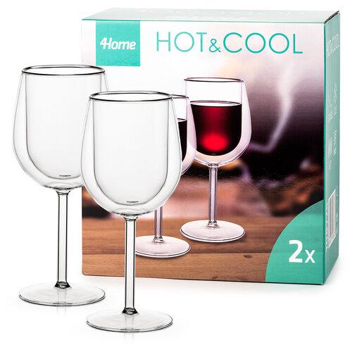 4home Termo sklenice na víno Hot&Cool  300 ml, 2 ks