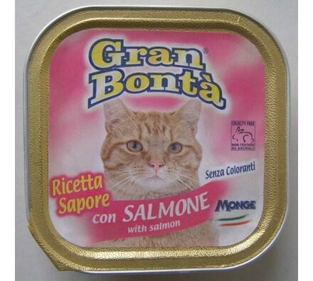 Paštika Gran Bonta s lososem pro kočky, 100g