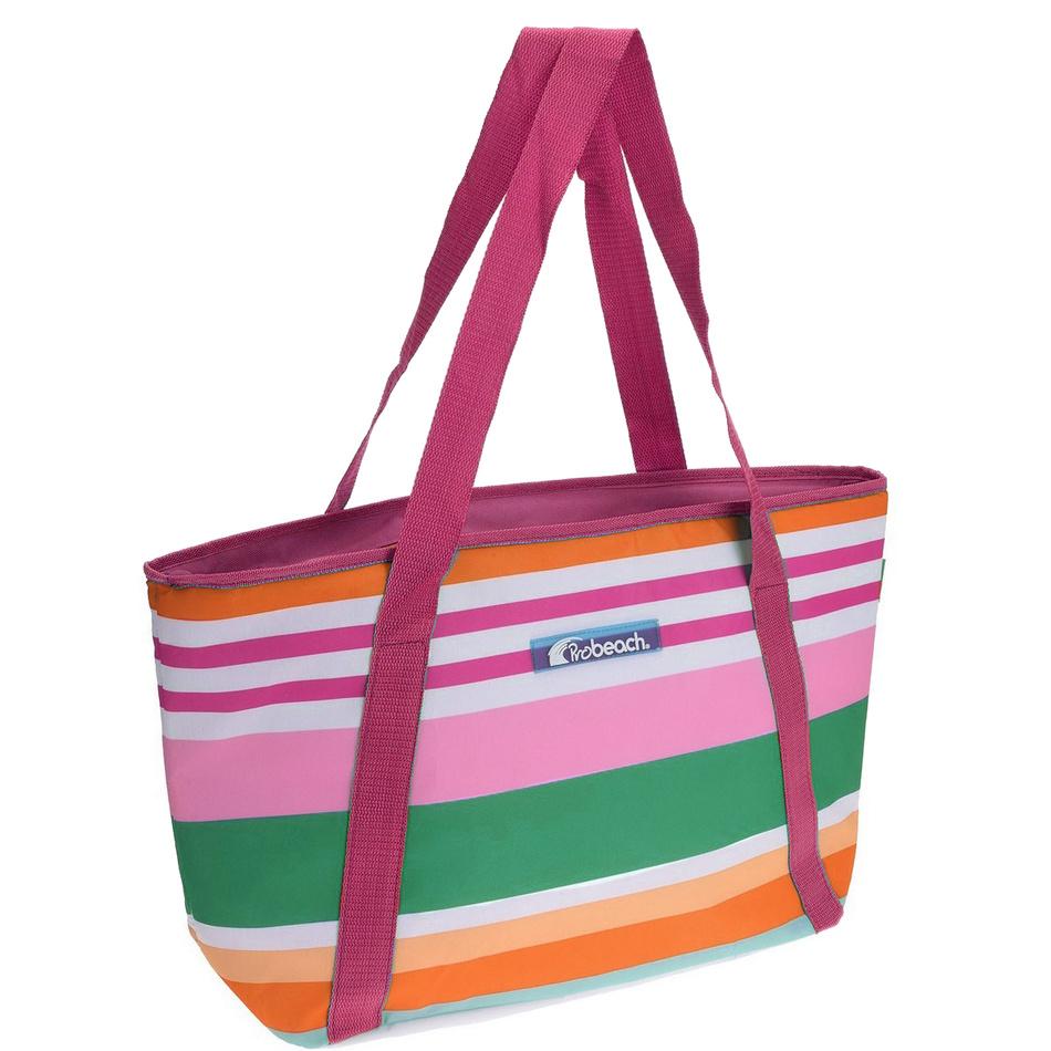 Chladící taška pruhovaná, růžová