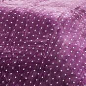 Povlečení mikroplyš Polka fialová, 140 x 200 cm, 70 x 90 cm