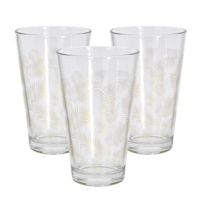 Sada pohárov Summer 300 ml, zlatá, 3 ks