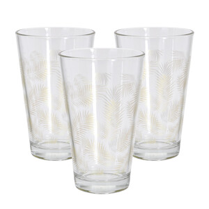 Sada sklenic Summer 300 ml, zlatá, 3 ks