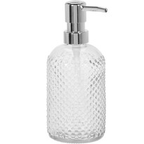 Dávkovač mýdla Glass dots, čirá