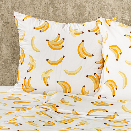 Lenjerie de pat 4Home Banane, micro, 160 x 200 cm, 2 buc. 70 x 80 cm