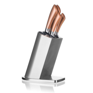 Banquet Sada nožů Copper, 5 ks a nerezový stojan