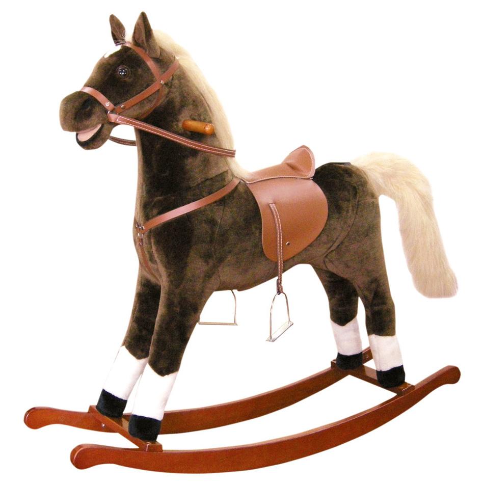 Bino Houpací kůň plyš, p+z, maxi,hn