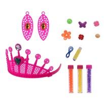 Dětská sada na výrobu šperků Korunka, růžová