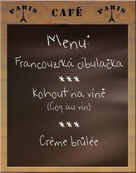 francouzské menu