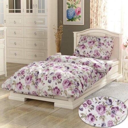 Bavlnené obliečky Daniela fialová PROVENCECollection, 140 x 200 cm, 70 x 90 cm