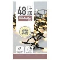 Karácsonyi fények Twinkle meleg fehér, 48 LED