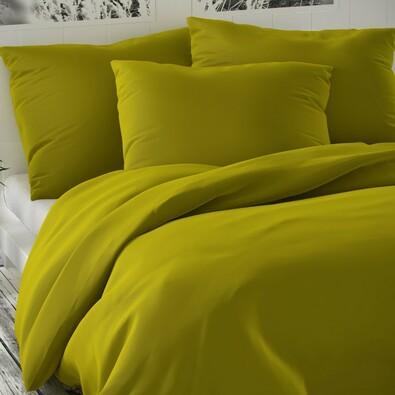 Saténové obliečky Luxury Collection olivová, 160 x 200 cm, 2 ks 70 x 80 cm