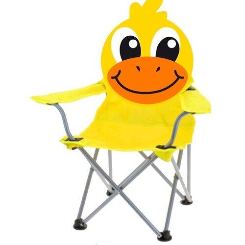 Dětská skládací židle Duckie, žlutá