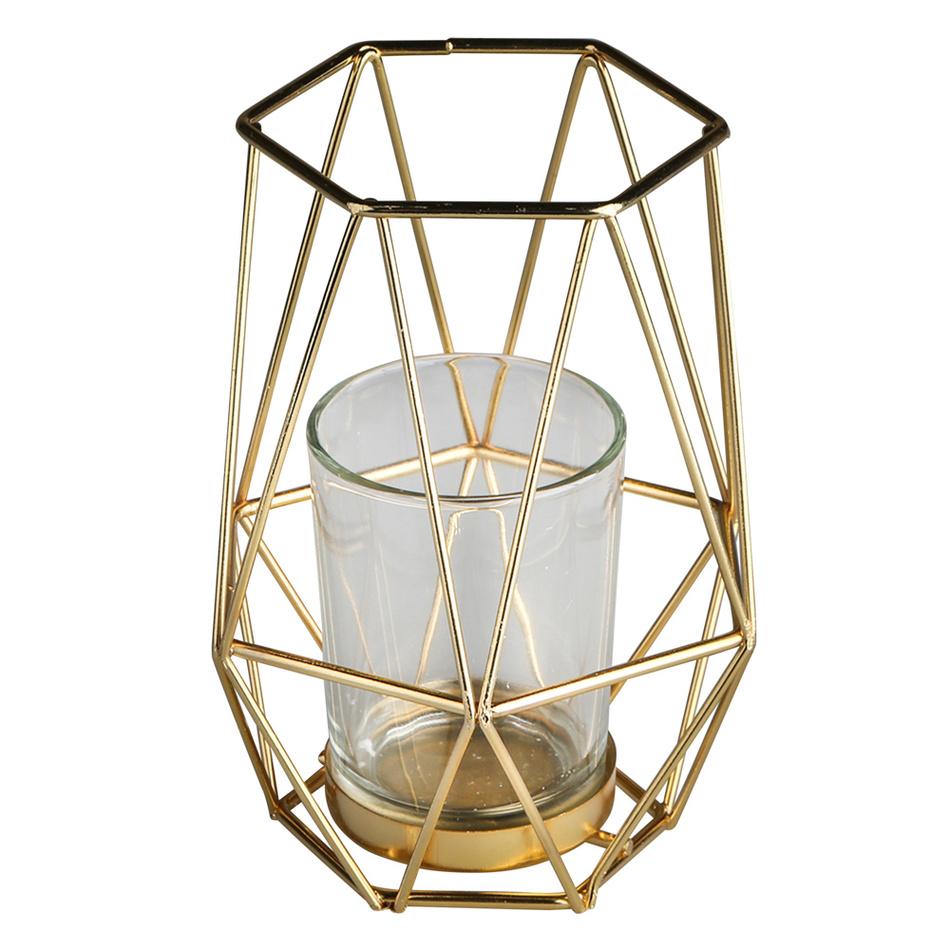 Altom Kovový svícen Golden 10,8 x 12,5 cm