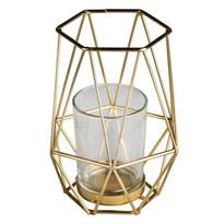 Altom Kovový svietnik Golden 10,8 x 12,5 cm