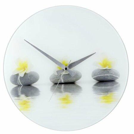 Wenko nástěnné hodiny Stones with Flower