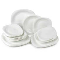 Luminarc 18-częściowy zestaw jadalny Carine, biały