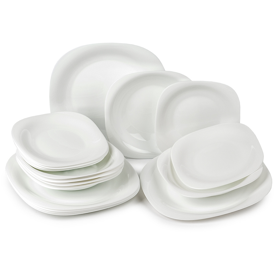 Luminarc Carine bílá souprava talířů 18 ks