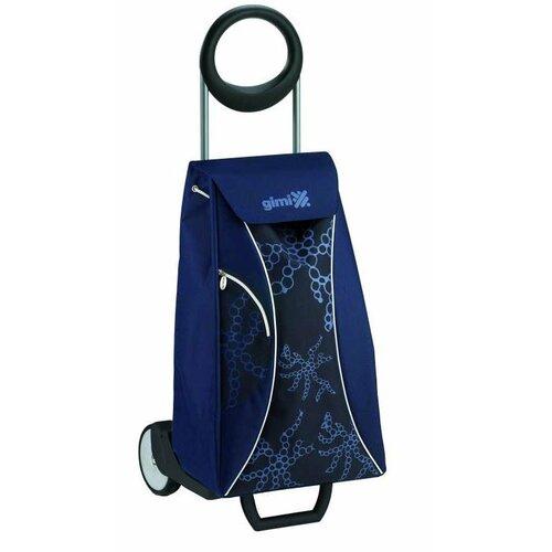 Market Queen Nákupná taška na kolieskach modrá