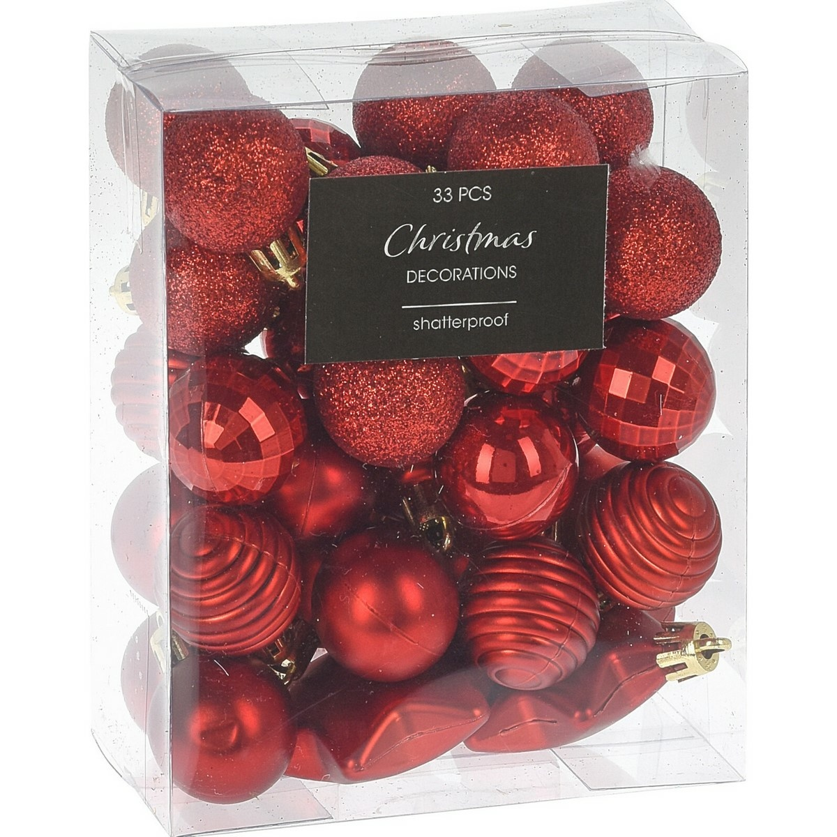 Sada vánočních ozdob Balestrate 33 ks, červená