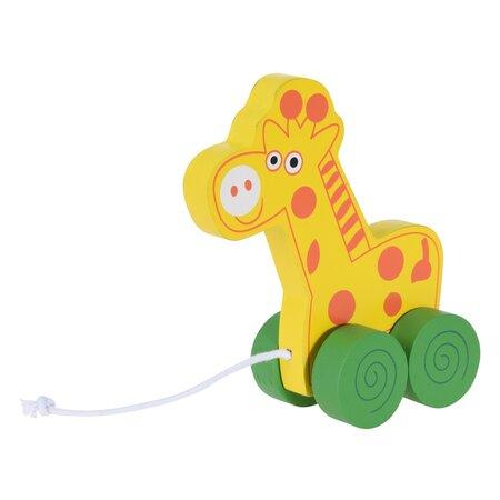 Koopman Dětská tahací žirafa, 15 cm